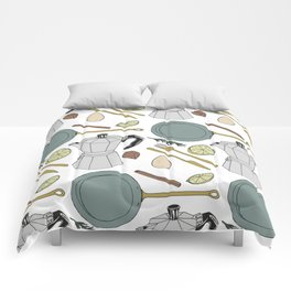 Kitchen Sink Pattern Comforters