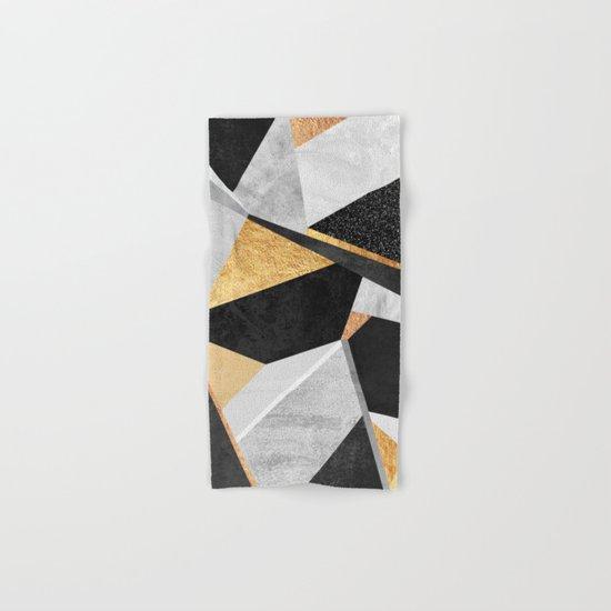 Geometry / Gold Hand & Bath Towel