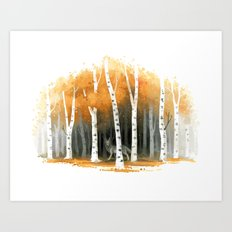 Autumn Wolf Art Print