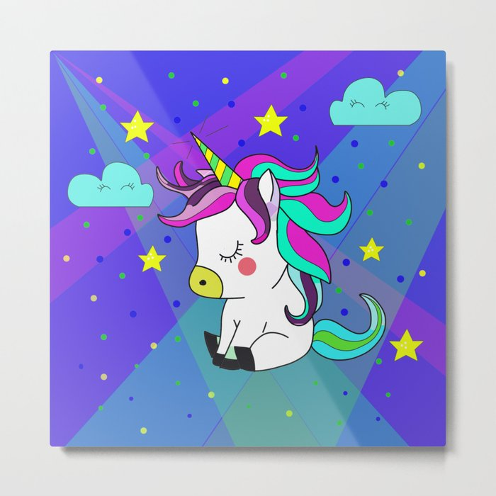 Love Unicorn Metal Print