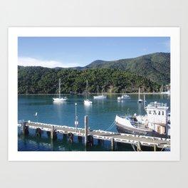 Picton, NZ Art Print
