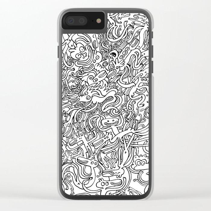 Garbled II Clear iPhone Case