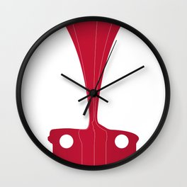 Silhouette Racers - Mazda MX5 in Red Wall Clock
