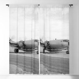 B-29 800 with X-1B attached taxis in off of the lakebed Blackout Curtain