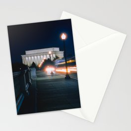Traffic At Night On The Memorial Bridge Stationery Cards