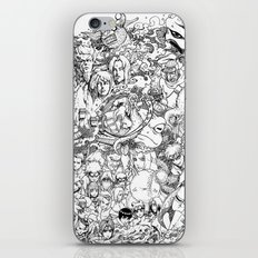 Naruto characters doodle iPhone Skin