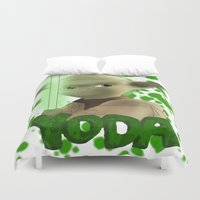 yoda Duvet Covers featuring Yoda by BellaG studio