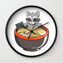Cute Japanese Ramen Noodles Gift Product Kawaii Anime Print Wall Clock