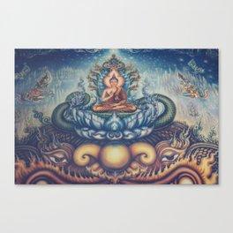 Buddah blue temple Canvas Print
