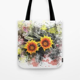 Glowing yellow daisies on white Tote Bag