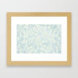 Shabby Chic Damask Framed Art Print