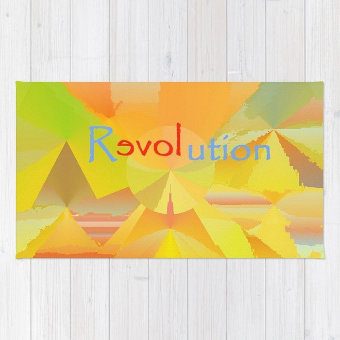 ReLOVEution Abstract Art Rug