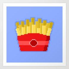 Pixel Fries Art Print