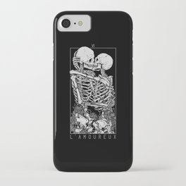 The Lovers Skull Kiss iPhone Case