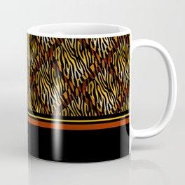 Tiger Stripe Mosaic Tile Modern Abstract Coffee Mug
