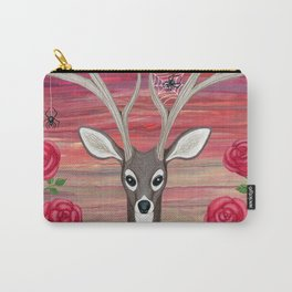 white tailed deer, spiders, roses Carry-All Pouch