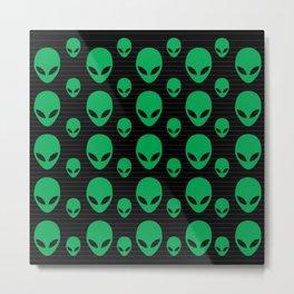 Aliens Exist Metal Print