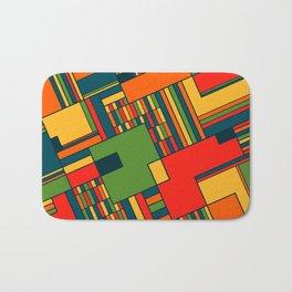African geometric pattern Bath Mat
