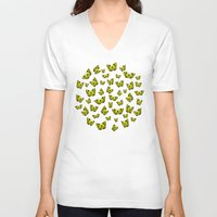 butterflies V-neck T-shirts featuring Butterflies by Condor