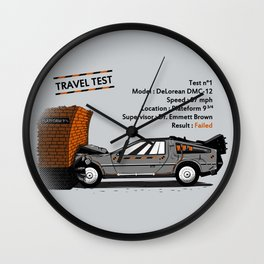 Travel test Wall Clock