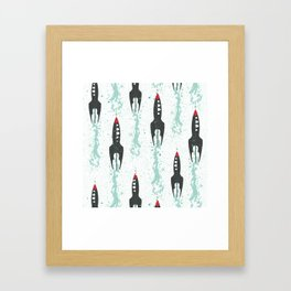 Voyage into the cosmos Framed Art Print
