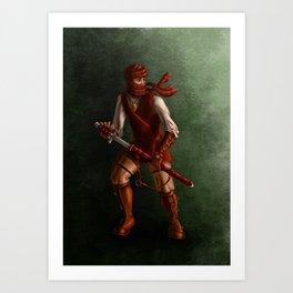 red warrior Art Print