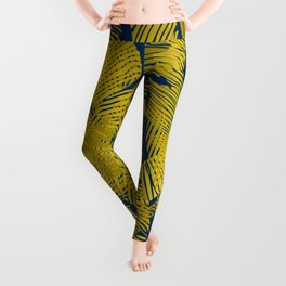 Carved Yellow&Blue Jungle #society6 #decor #buyart Leggings