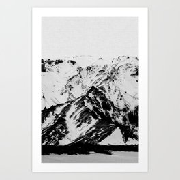Minimalist Mountains Art Print