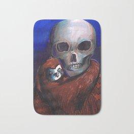 skull and alien Bath Mat