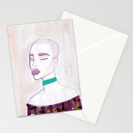 Eva with a 90s choker Stationery Cards