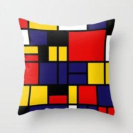 Mondrian De Stijl Modernist Inspired Abstract Art #5 Throw Pillow