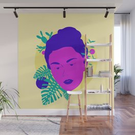 Floral Girl Wall Mural