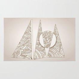 geometric zen composition three triangles Rug