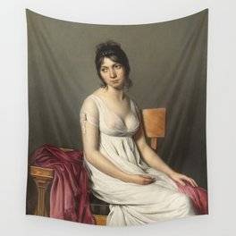 Portrait of a Young Woman in White by Jaques-Louis David Wall Tapestry