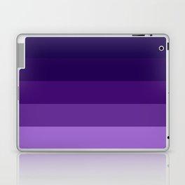 Purple Lavender Indigo Stripes Laptop & iPad Skin