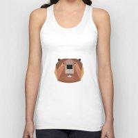 beaver Tank Tops featuring Beaver by Alysha Dawn