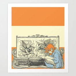 Leave Me Alone, I'm Reading (and I'm a Redhead) Art Print