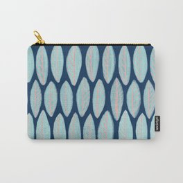Blue Leaves Navy Background Carry-All Pouch
