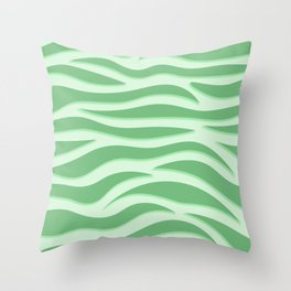 Green Tiger Stripe Throw Pillow