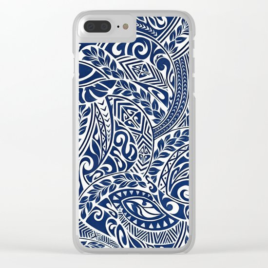 Hawaiian tribal pattern III Clear iPhone Case