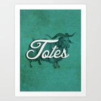 Totes Ma-Goat Art Print