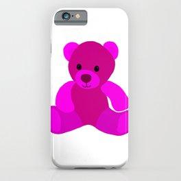 Bright Pink Teddy Bear iPhone Case