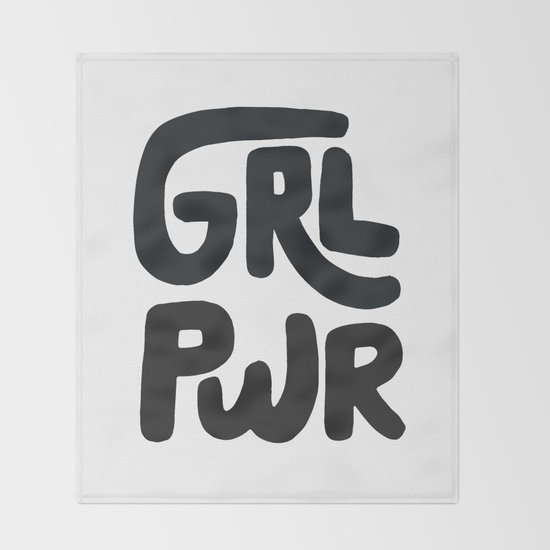 Grl Pwr black and white by phirst