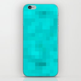 Re-Created Colored Squares No. 45 by Robert S. Lee iPhone Skin