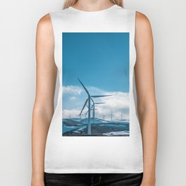 The Wind Farm (Color) Biker Tank