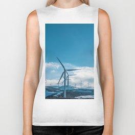 The Wind Farm (Color) Biker Tank
