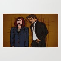 mulder Area & Throw Rugs featuring there's something out there, mulder by Melvin Pena