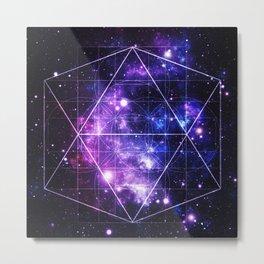 galaxy sacred geometry Metal Print