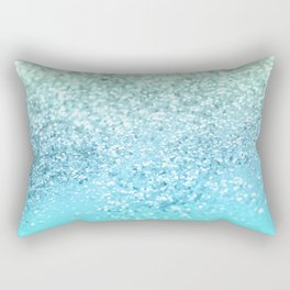 Seafoam Aqua Ocean MERMAID Girls Glitter #1 #shiny #decor #art #society6 Rectangular Pillow