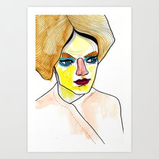orange hair Art Print